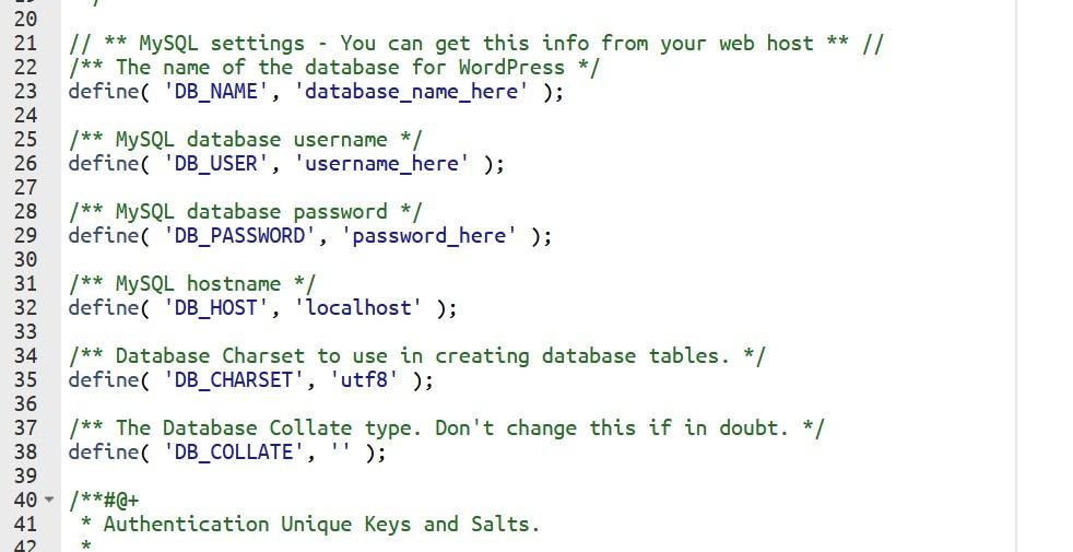 manually database process in WordPress