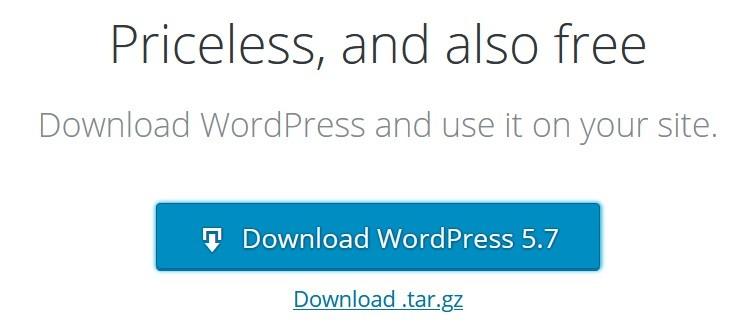process to download & install wordpress manually