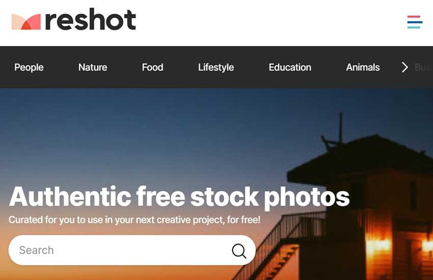 reshot free photos website lists